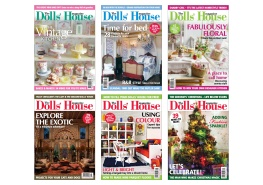 Selection of front covers of The Dolls' House magazine. I chose the image and cover lines to suit the main theme of each issue.